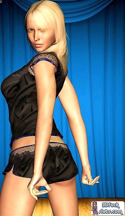 Sexy blonde in black..