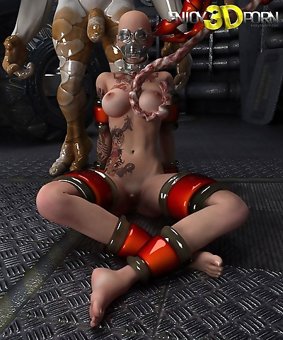 Captured space babe fucked..